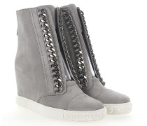 Wedge Sneaker High 2R642 Veloursleder hell