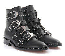 Stiefeletten Boots BE08143 Leder Nieten silber