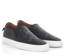 Sneaker Slip On Street Skate Leder Del Amor print