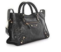 Handtasche Schultertasche Giant 12 City Leder Vintage Design-Nieten