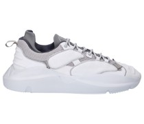 Sneaker low SPUTNIK Veloursleder Materialmix Logo