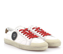Sneaker Low SL/37 Leder used Veloursleder Leo-print Diamond-Patch