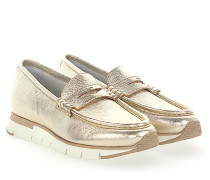 Penny Loafer 60183 Plateau Leder metallic