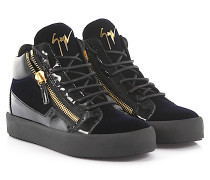 Sneaker high Kriss Lackleder Samt