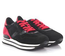 Sneaker H222 Nuovo Sportivo Veloursleder schwarz Lackleder pink