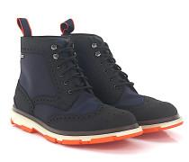 Stiefeletten Boots Budapester STORM BROGUE HIGH Gummi schwarz Hightech-Jersey