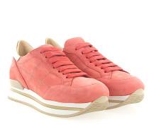 Sneaker H222 Plateau Veloursleder coralle Leder