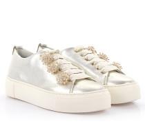 AGL Sneaker D92504 Plateau Leder Kristallverzierung