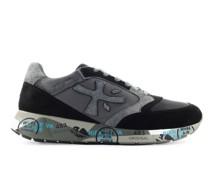 Sneaker low ZACZAC 5019 Veloursleder Materialmix Logo