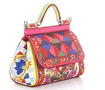 Handtasche Schultertasche Sicily Leder Multicolor