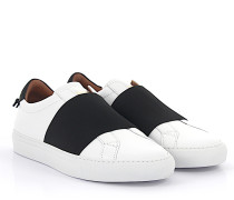 Slip-On Sneaker Urban Street look elastic Leder weiss