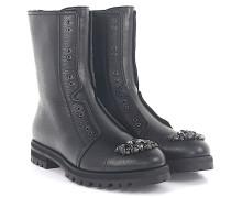 HATCHER Boots Leder Kristalle