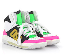 2 Sneaker High Top K515 Leder Stoff multicolor