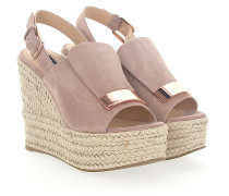Wedge Sandalen A80200 Veloursleder rosè Gold-Plated