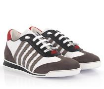 2 Sneakers Nubukleder weiß grau
