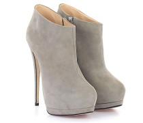Stiefeletten Boots E37005 Veloursleder beige
