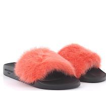 Sandale Plate Slide Gummi Nerz koralle