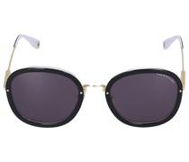 Sonnenbrille Oval 210106 Metall Acetat schwarz gold