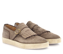 Sneakers Einfach-Monk 20226 Budapester Veloursleder finished Fransen