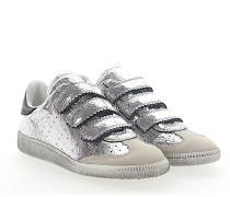 Sneaker BETH Leder metallic crinkled Veloursleder