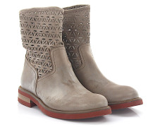 Stiefeletten Boots 592 Leder taupe finished
