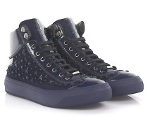 Sneakers High Argyle Lackleder Canvas Sternenverzierung