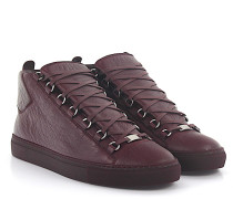 Sneaker ARENA High Leder bordeaux Crinkled