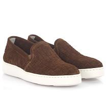Sneaker Slip On 60021 Veloursleder geflochten