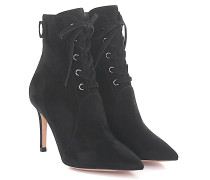Stiefelette Ankle Boots Veloursleder