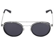 Sonnenbrille Round 043115 Metall Acetat silber