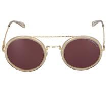 Sonnenbrille Round 210100 Metall Acetat gold