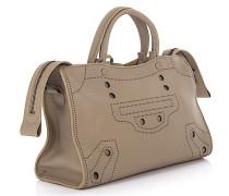 Handtasche Schultertasche Mini Blackout Leder design-perforiert
