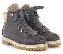 AGL Stiefeletten Boots Leder geprägt Lammfell