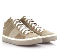 Sneakers Bells Mid Cut Veloursleder Leder Triangelprägung