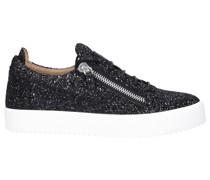 Sneaker low FRANKIE Glitter Glitzer weiß