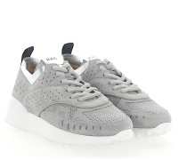 Sneaker A0W590 Veloursleder grau Lochmuster