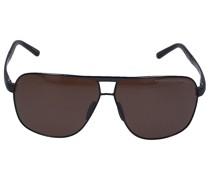 Sonnenbrille Aviator 8665 F Titan Silber schwarz