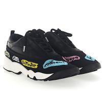 Sneaker FUSION Leder Mesh Stickerei