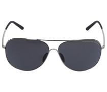 Sonnenbrille Aviator P8605 C 64/12 Metall silber