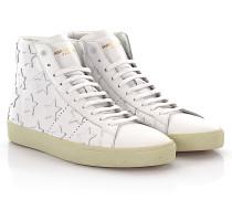 Saint Laurent Sneakers High SL/06 M Leder weiß Sternenverzierung