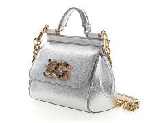 Handtasche Schultertasche MINI SiCILY Leder metallic