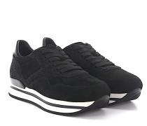 Sneakers H222 Veloursleder Stoff Glitzer