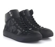 Sneaker Argyle High Top Leder Stoff camouflage