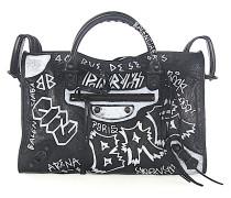 Schultertasche Handtasche CLASSIC CITY Leder graffiti