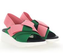 Sandalen FELETTRA Plateau Stretch rosa grün