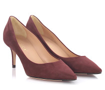 Pumps 7169 Veloursleder bordeaux