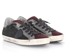 Keilsneakers Classic Low D Veloursleder grau bordeaux