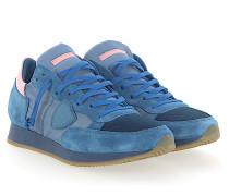 Sneaker TROPEZ Veloursleder Nylon Mesh Leder rosa