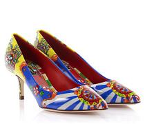 Dolce & Gabbana Dolce Gabbana Pumps Lackleder blau gelb Designer-Print
