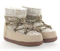 Boots LADY Leder Stoff multicolour Zierkette Fell